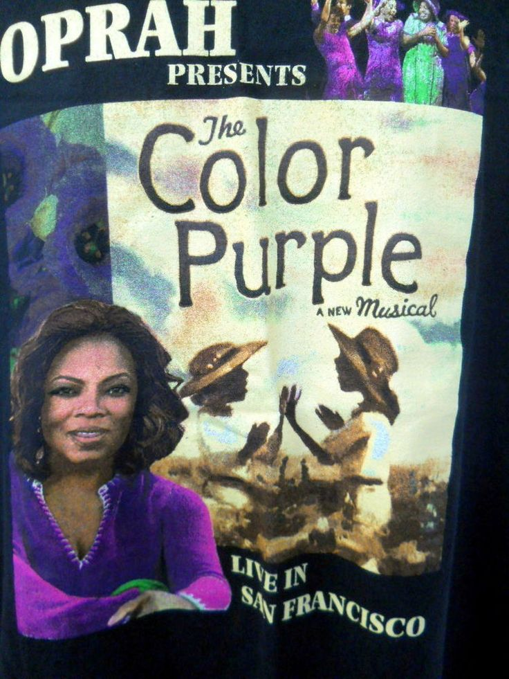 oprah tee shirt presents the color purple a new musical live in san francisco lg - The Color Purple Book Online