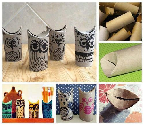 Hacer buhos con rollos de papel de water!