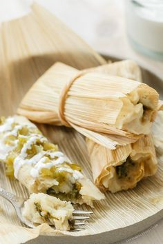 Homemade Roasted Poblano and Cheese Tamales