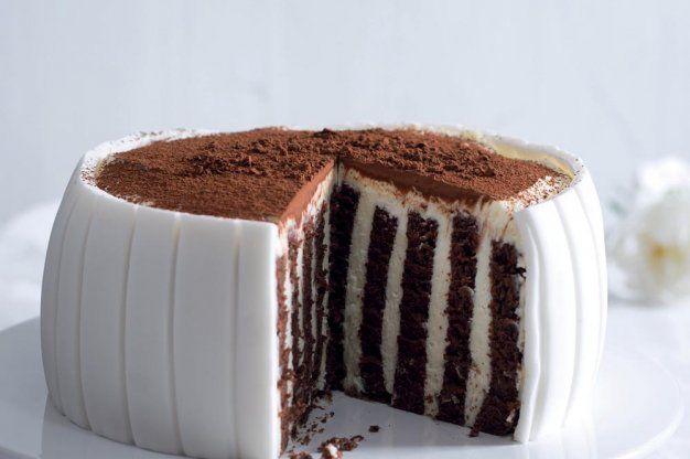 Pruhovaný dort