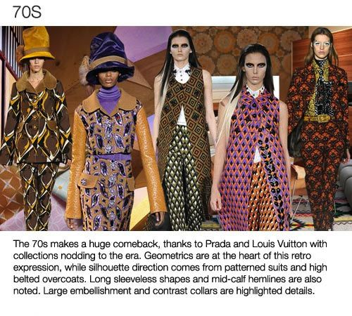 Top 5 trend themes Womens F/W 2013-14, 70s