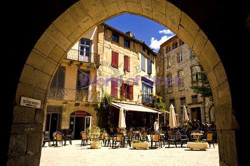 Town Square St Antonin Noble Val Tarn Et Garonne France Europe