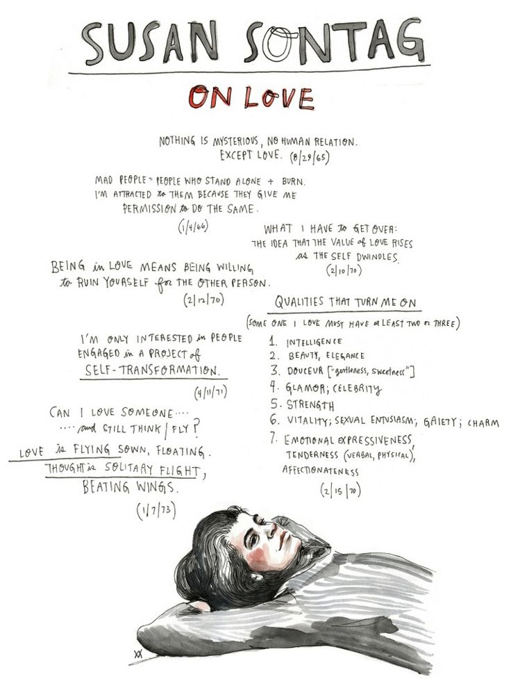Susan Sontag on Love: Illustrated Diary Excerpts | Brain Pickings