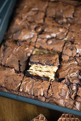 Growing up, Nutty Buddy Bars were my favorite lunch box treat.   Nutty Buddy Brownie recipe will blow your mind!