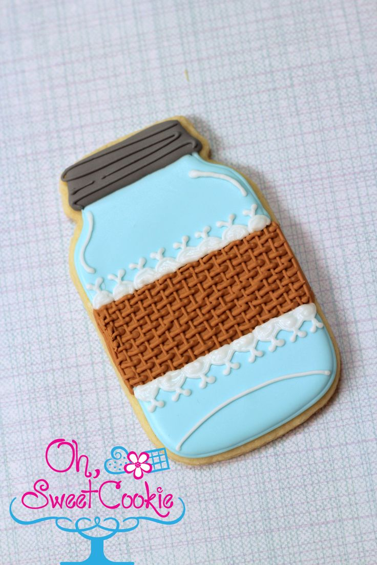 Mason Jar cookies with burlap and lace https://www.facebook.com/OhSweetCookieTCJ?ref=hl