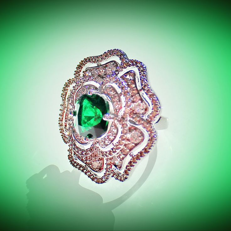 """Кольцо """"Эмеральд"""". BEAUTY-MIX элитная бижутерия в Одессе www.beauty-mix.com.ua"""