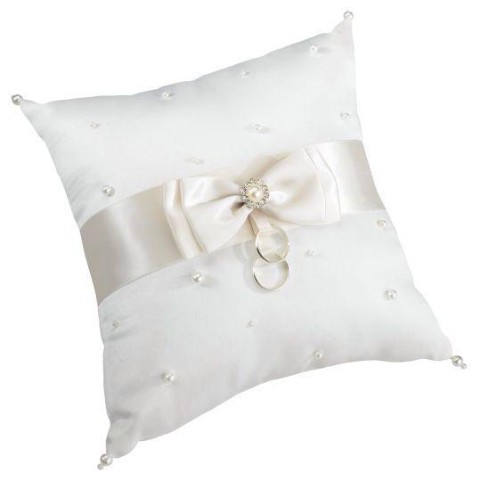Lillian Rose ivory ring bearer pillow