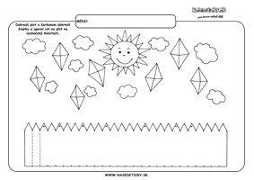 Jeseň - grafomotorika - pracovné listy pre deti