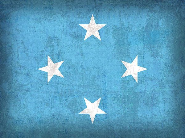 Micronesia Flag Vintage Distressed Finish Print By Design Turnpike