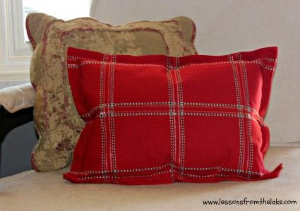 How to make a flange pillow cover from place mats.