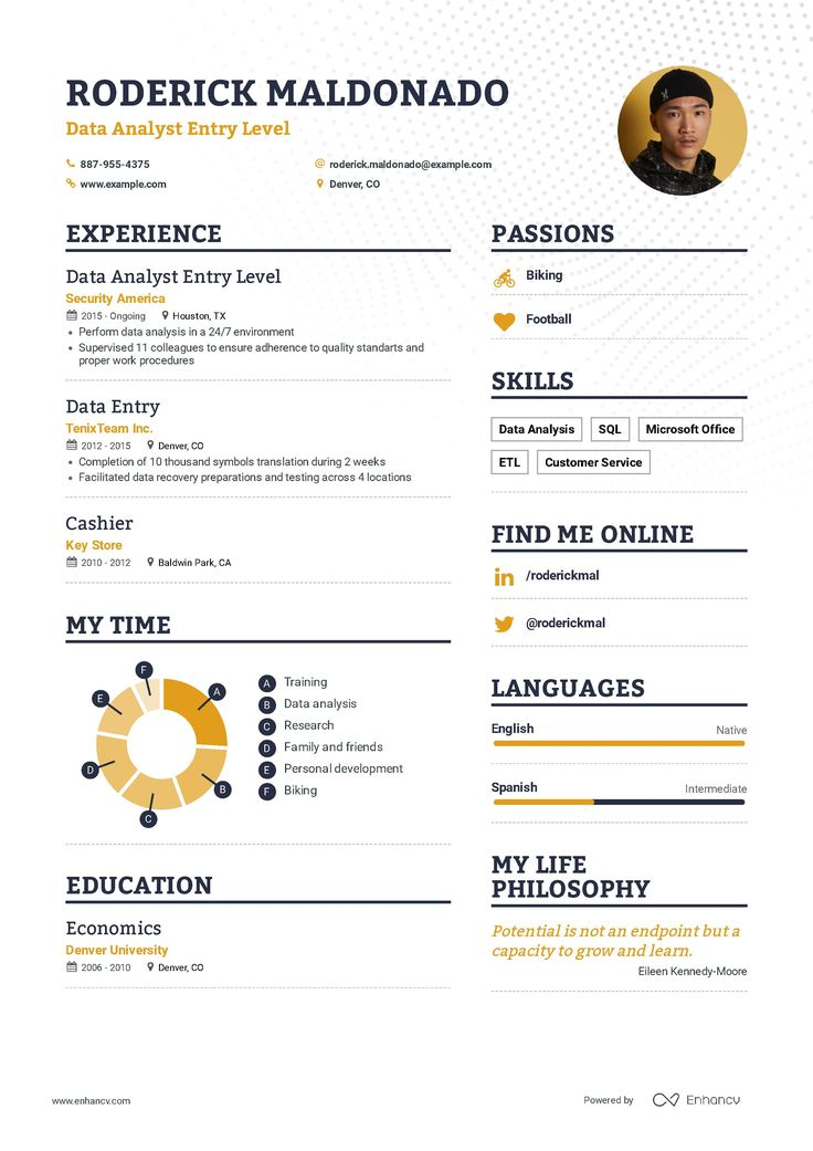 Data analyst entry level resume examples inside howto