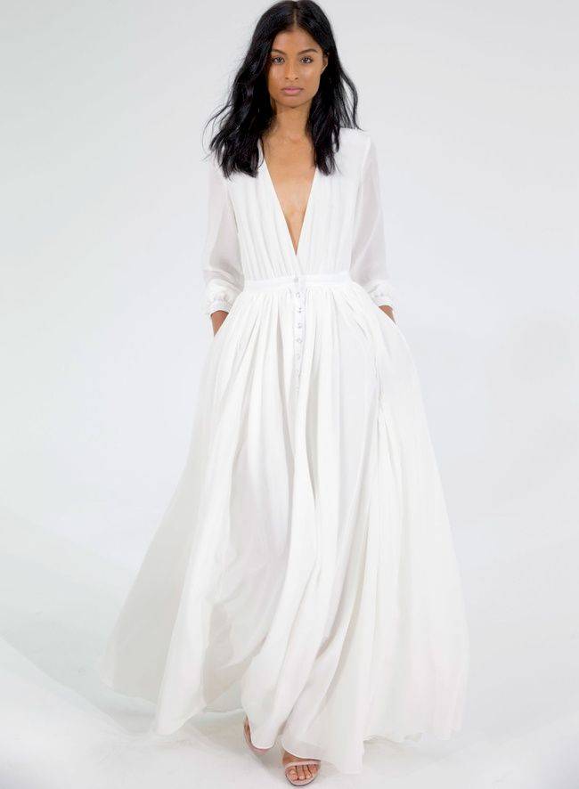 Robe longue blanche hiver