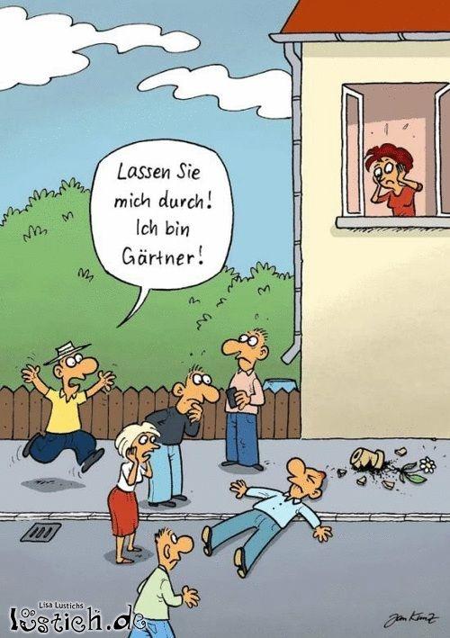 Пропустите меня! Я садовник!
