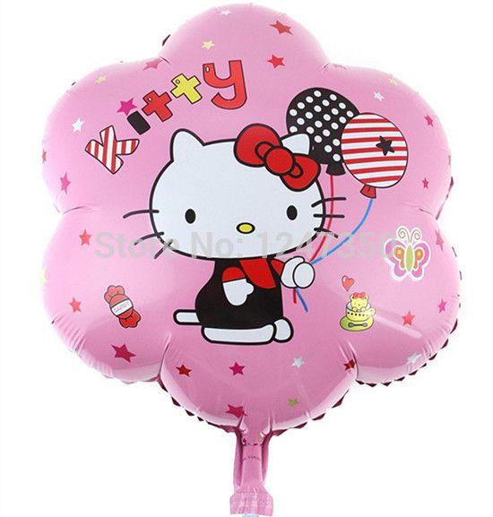 Цветок привет китти фольгированные шары воздушные шары надувные игрушки на день рождения ну вечеринку украшения Globos гелия баллоны поставки