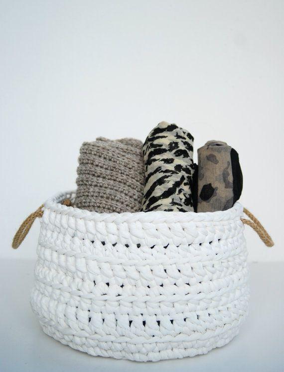 Christmas in july  Big Crochet Storage Basket by DeliriumDecor, $60.00