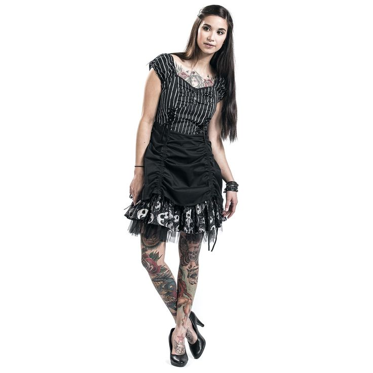 "Abito ""Pinstripe Dress"" di #TheNightmareBeforeChristmas."
