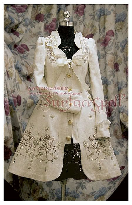 Surface Spell Coat with embroidery