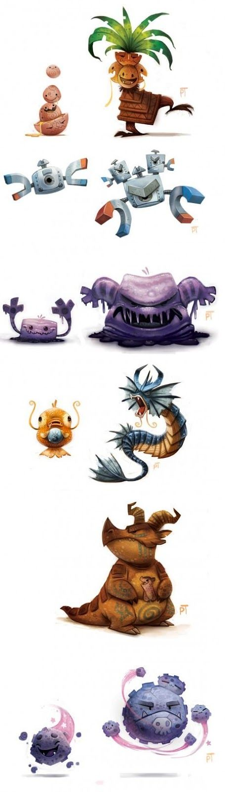 Piper Thibodeau, whose work includes incredible, adorable takes on cryptids and famous monsters, and the thing that really hooked me redesigns for over a hundred of the original Pokémon.
