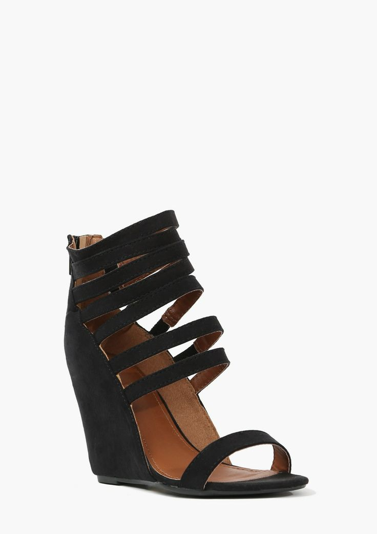 Best 25+ Strappy wedges ideas on Pinterest | Black wedges ...