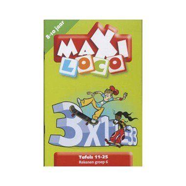 Maxi Loco / Tafels 11-25  Dit is een leuk boekje met de tafels 11 tot 25 voor kinderen in groep 6 leeftijd 8 tot 10 jaar  EUR 0.98  Meer informatie