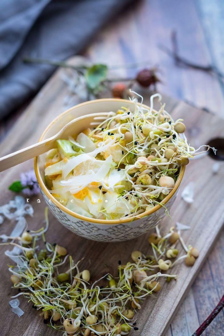 Újabb nagyon egyszerű, könnyű saláta következik. És hogy a vitaminokról se feledkezzünk meg, került rá egy jó adag csírakeverék.     A recep...