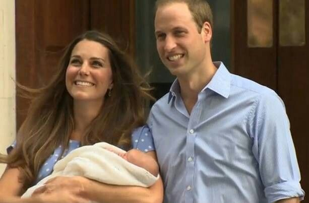 Baby Cambridge's first appearance!