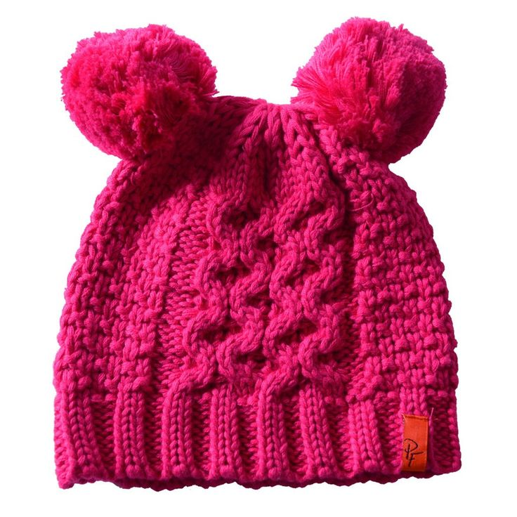 Kids will love this hat with two pom poms on top of a knit beanie! The pink hat is available in sizes for 1 -2 year olds or 3 – 6 year olds. It is a warm knit hat crafted from 50% acrylic and 50% cotton. Hand wash or dry clean only. This bobble hat is crafted by Patrick Francis located in Co. Dublin, Ireland.