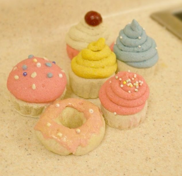 Salt dough play food