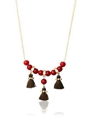 Diane Yang Designs Carnelian Speakeasy Tassel Necklace