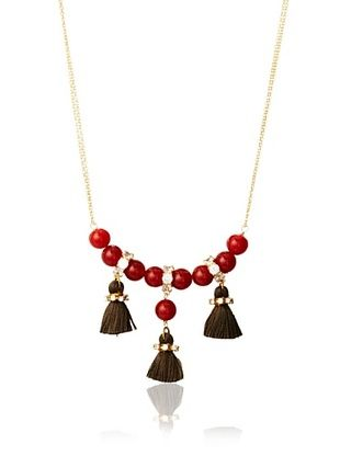 Diane Yang Designs Carnelian Speakeasy Tassel Necklace