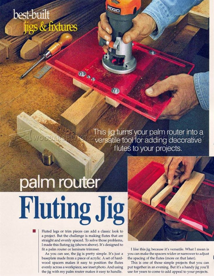 #2881 DIY Router Fluting Jig - Woodworking Techniques