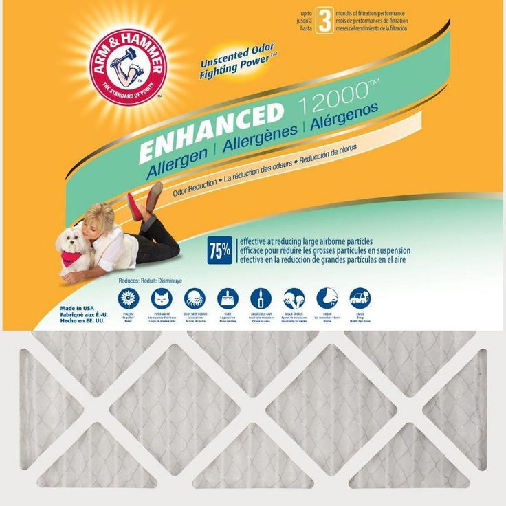 Home Depot Arm and Hammer air filters deals 16 sizes: ex. 16 in. x 25 in. x 1 in. Odor Allergen and Pet Dander C... https://www.lavahotdeals.com/us/cheap/home-depot-arm-hammer-air-filters-deals-16/311378?utm_source=pinterest&utm_medium=rss&utm_campaign=at_lavahotdealsus&utm_term=hottest_12