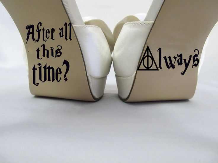 Harry Potter inspired After all this time? Always-Wedding shoe decal