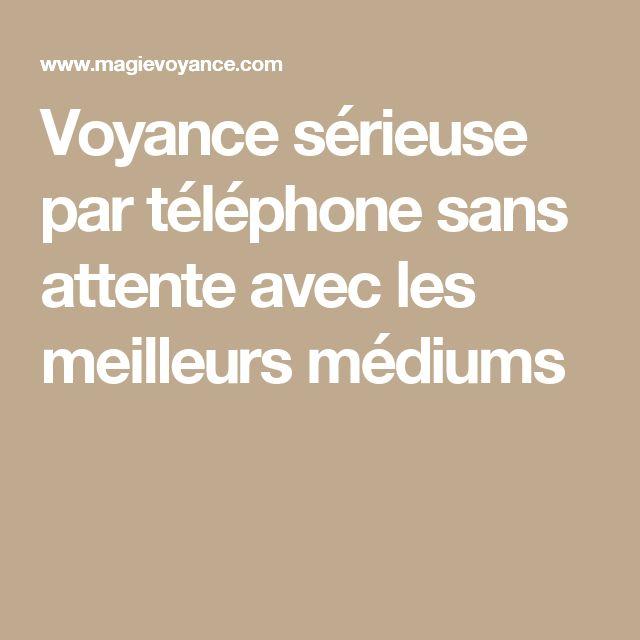 Voyance sérieuse par téléphone sans attente avec les meilleurs médiums