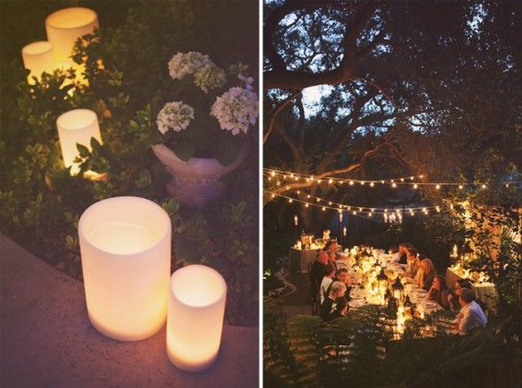 rustic party decorations ideas | Here are a few of my favorite backyard rehearsal dinner decor items!