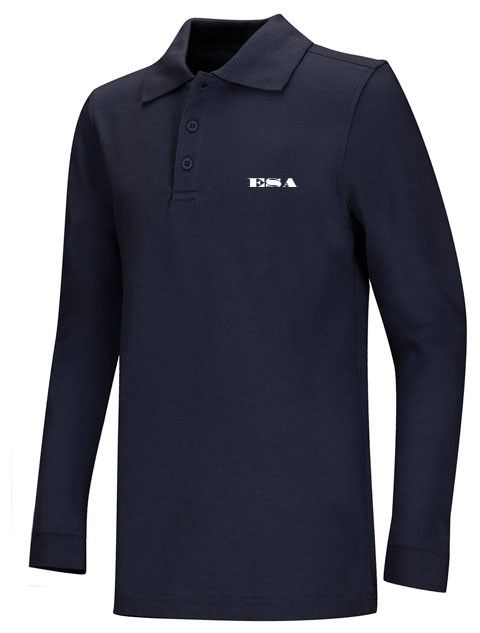 Youth LS Pique Polo: ESA Letters