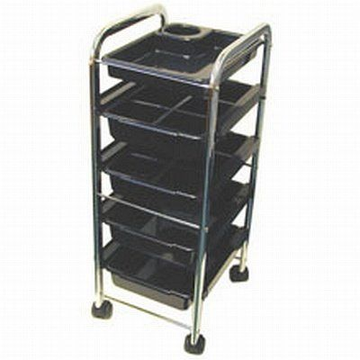 "Celebrity 5-Tray Utility Trolley by Celebrity. $157.24. 5 compact trays utility trolley.. Heavy duty wheels,Lightweight, 34"" High.. Top tray size: 14-1/2""x 10-3/4""x 2"".. Bottom 4 tray sizes: 14-1/2""x 10-3/4""x 3"".. Removable tray dividers- slide in and out easily.. Celebrity Salon 5 Tray Utility Trolley, The Celebrity Salon 5 Tray Utility Trolley is perfect for storing salon accessories."