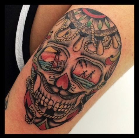 35 best images about tatouage cr ne mexicain on pinterest sugar skull tattoos mexican skull - Tattoo crane mexicain ...