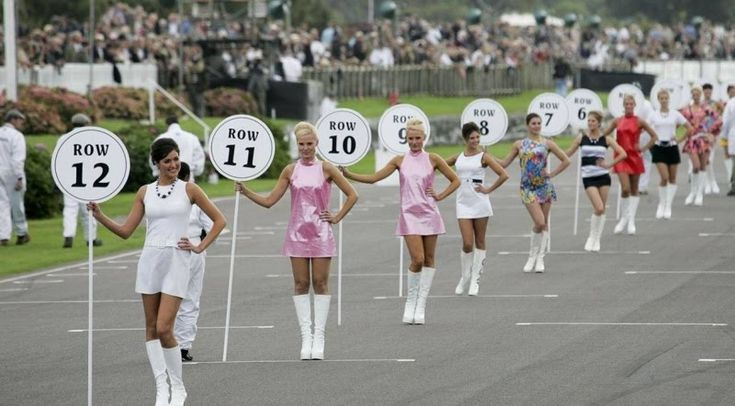 Pit Girls at Goodwood Revival