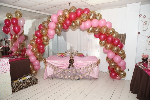 Cheetah Baby Shower Supplies | cheetah&pink baby shower ideas | 23: pink and leopard / Baby Shower ...