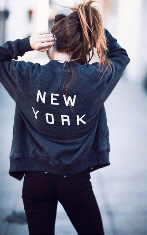 2016 NEW Womens Zipper Hoodies Sweatshirt Sweater NEW YORK Letter Printed Rock Sportwear Slim Jacket Coats Plus size S M L XL
