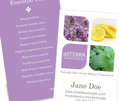 25+ unique Doterra business cards ideas on Pinterest | DIY party ...