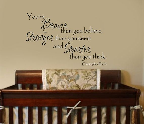 Braver than you believe Christopher Robin  Winnie the by wallstory, $55.00