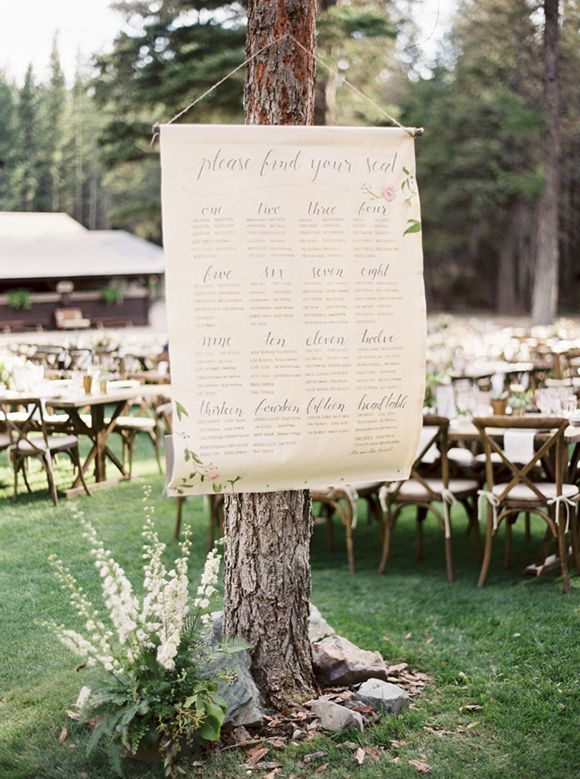 Calligraphy Table Plan