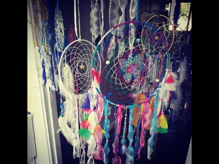Dream catchers Handmade with Crystals assorted colours and sizes