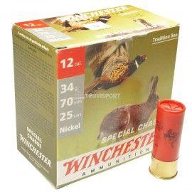 Cartuchos Winchester Special Chasse 34grNI | Caça menor | 25Uni Características: -Calibre:12 -Peso: 34gr Nickel -Caixa de 25 Unidades
