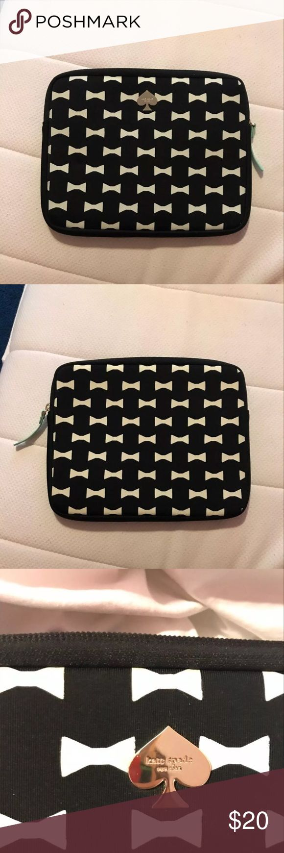 Bow tie Kate spade iPad case Kate spade iPad case. Used a twice and is in very good condition. kate spade Other