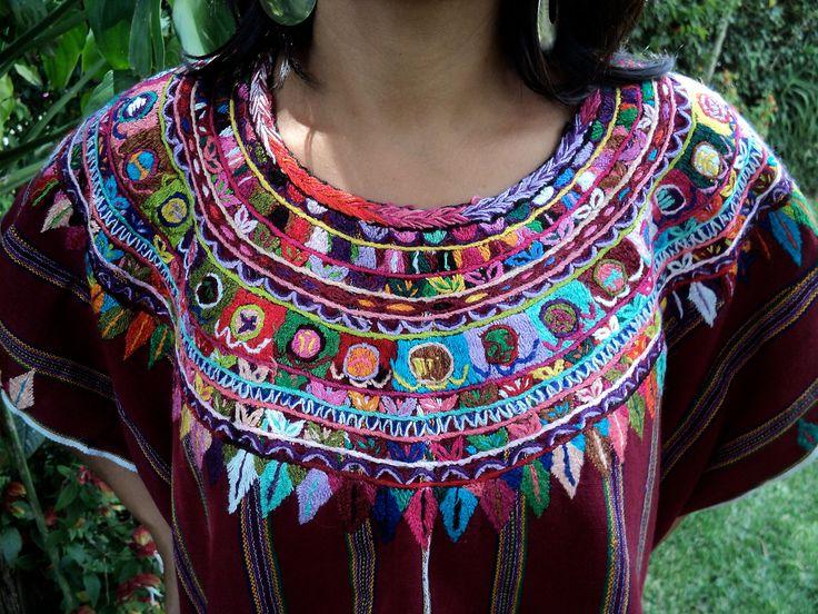 Vintage Mayan HUIPIL: Patzún, w/Calendar, GUATEMALAN ...