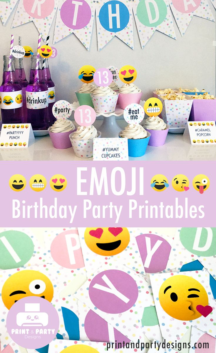 17 Best Images About Emoji Themed Birthday Party Ideas On