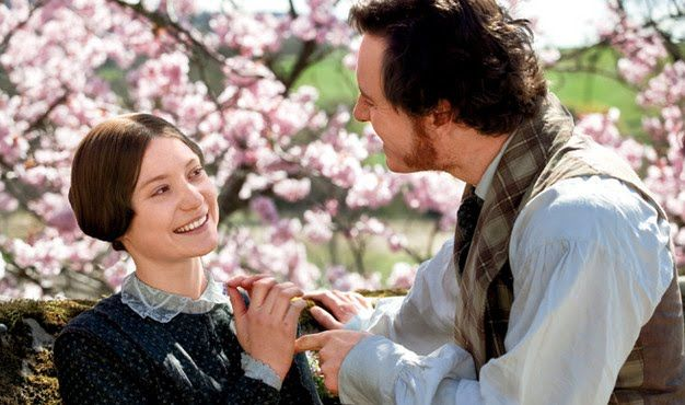 """Mia Wasikowska as Jane Eyre and Michael Fassbender as Edward Rochester in the 2011 version of """"Jane Eyre"""""""